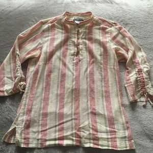 COLUMBIA S Striped Blouse High Neck
